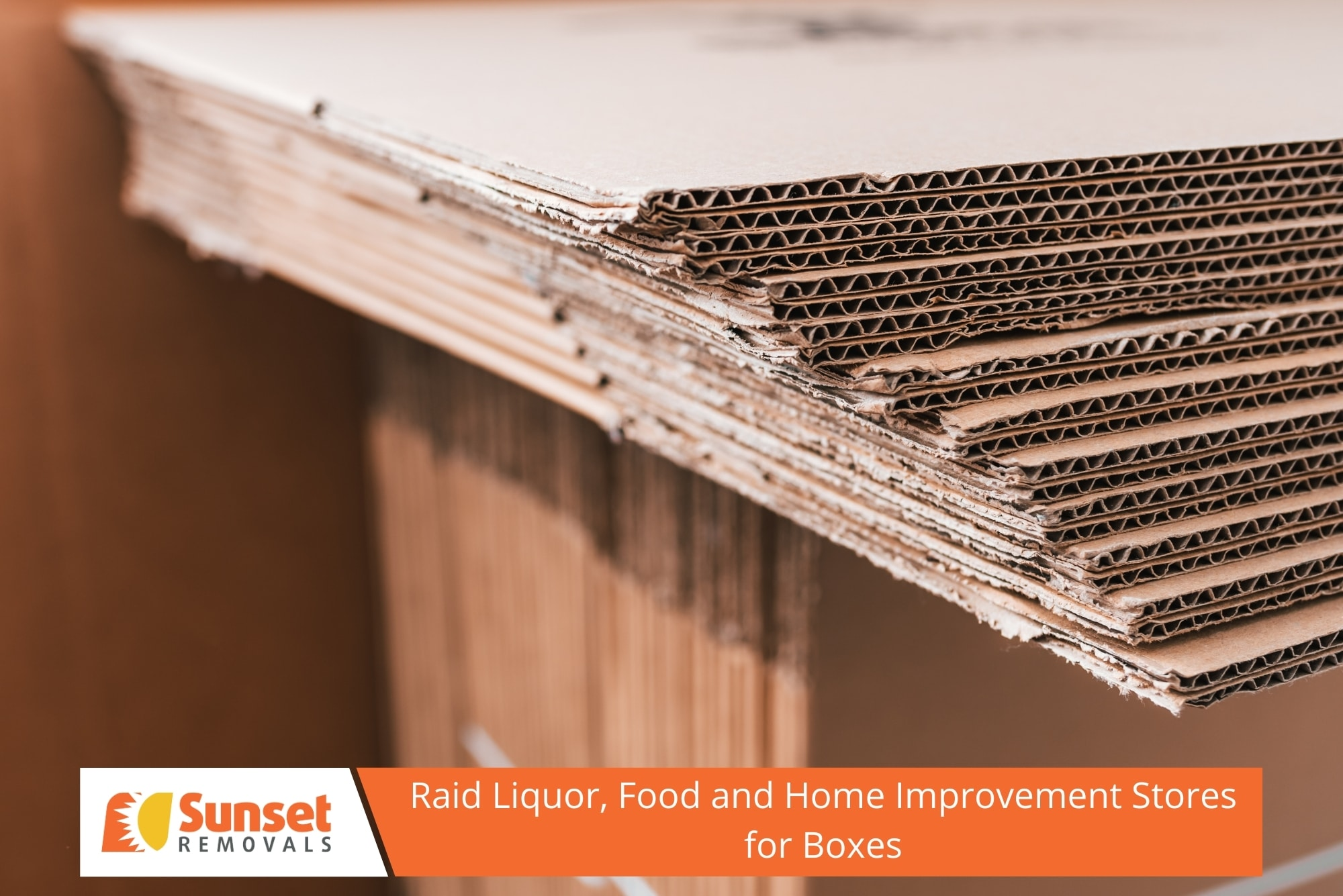 Raid Liquor, Food and Home Improvement Stores for Boxes